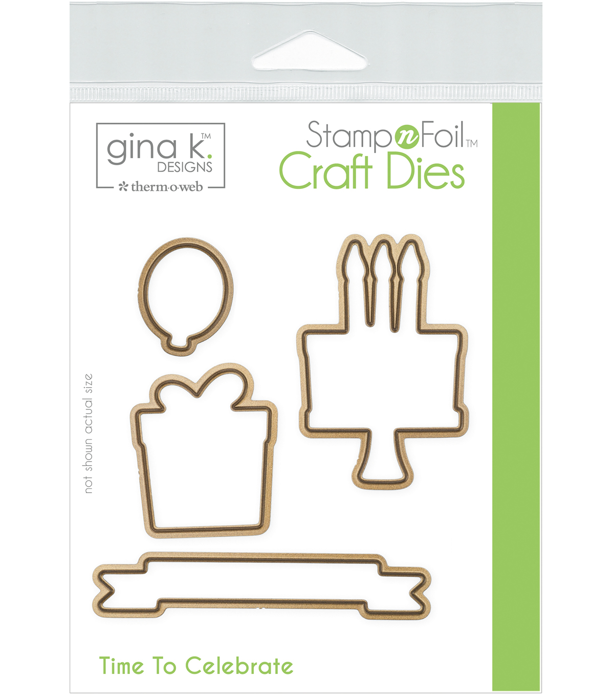 Gina K Designs StampnFoil 4 pk Craft Dies-Time to Celebrate