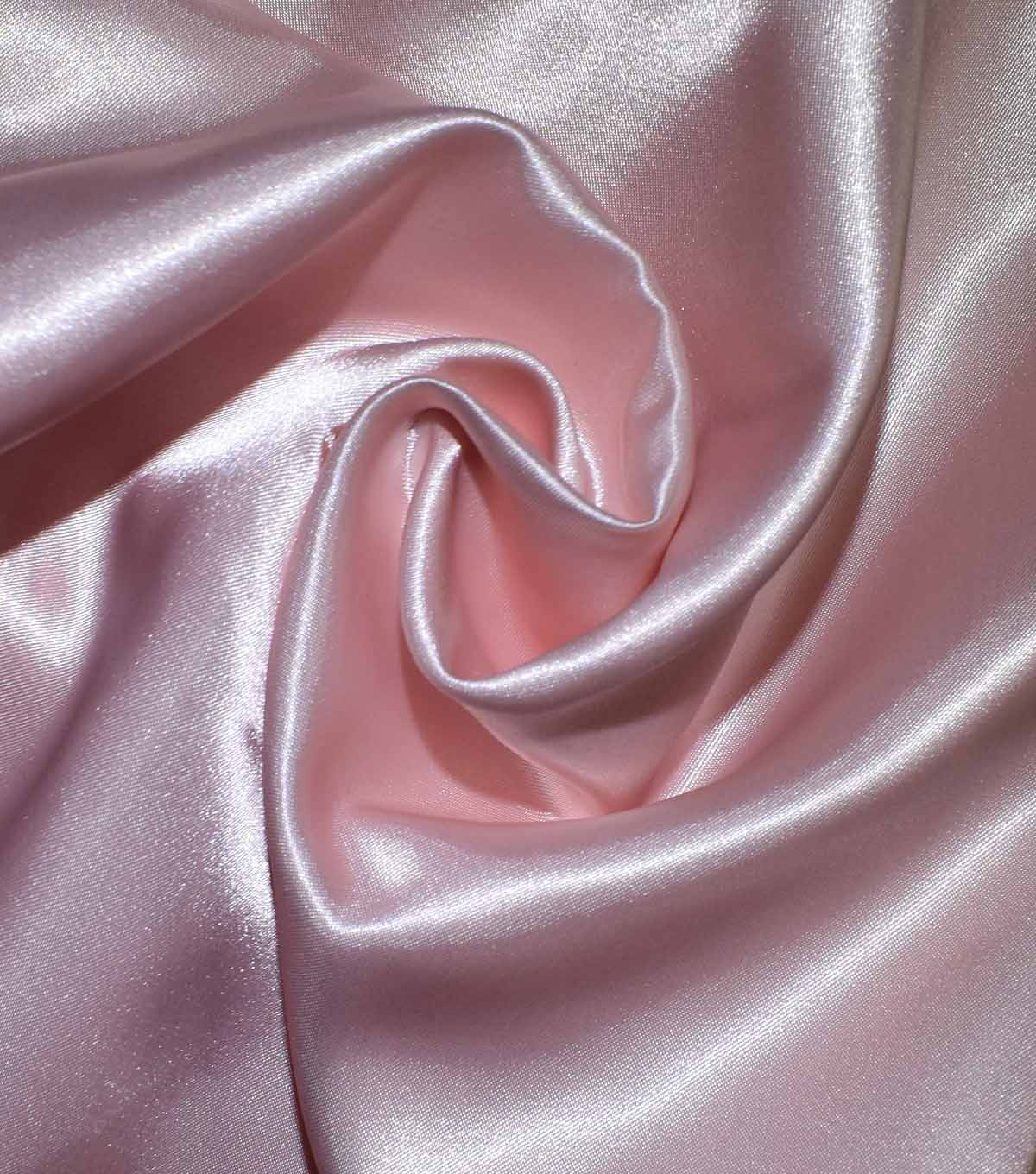 Casa Collection Shiny Satin Fabric, Rosewater