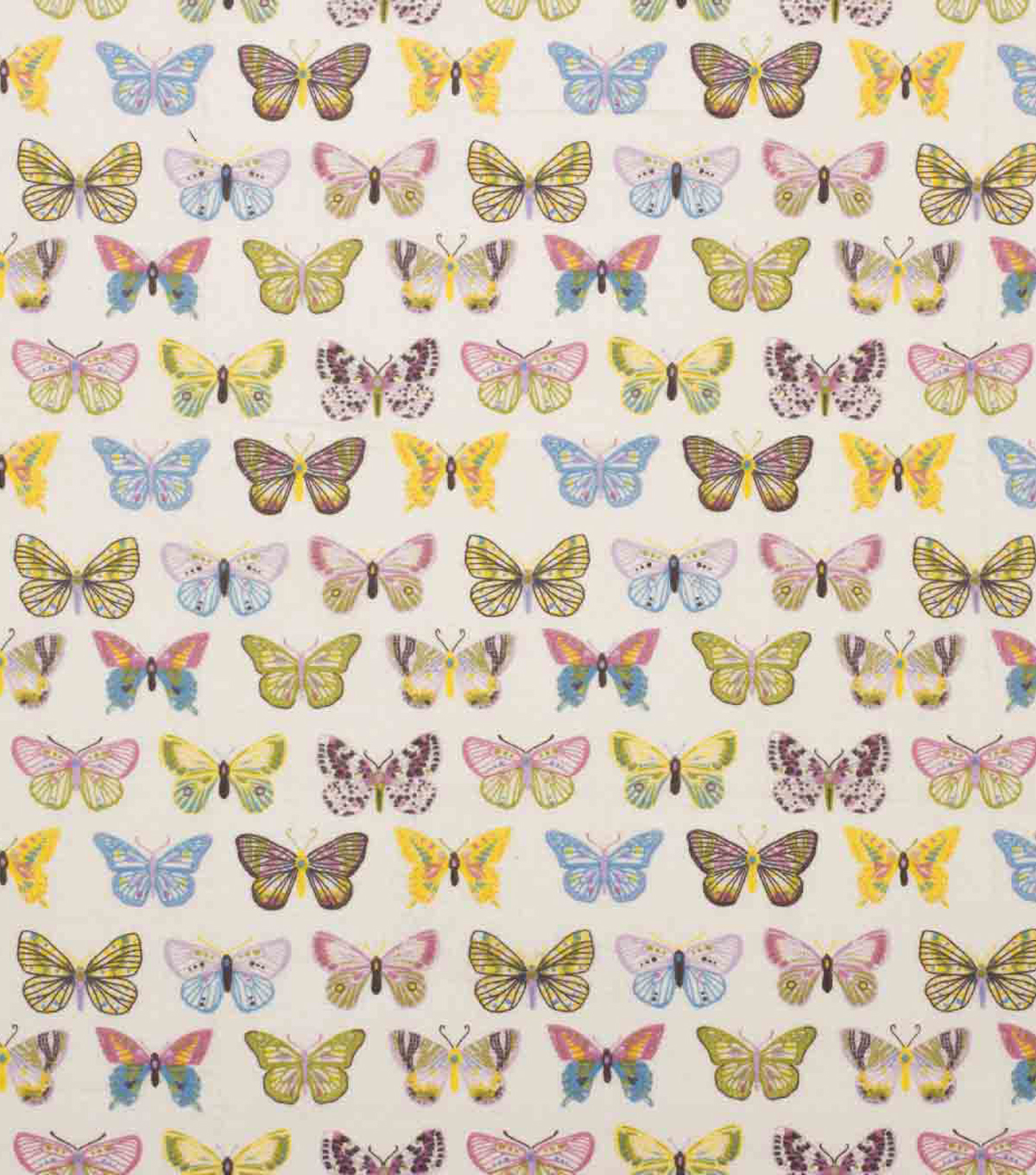 Super Snuggle Flannel Fabric-Butterflies in Line