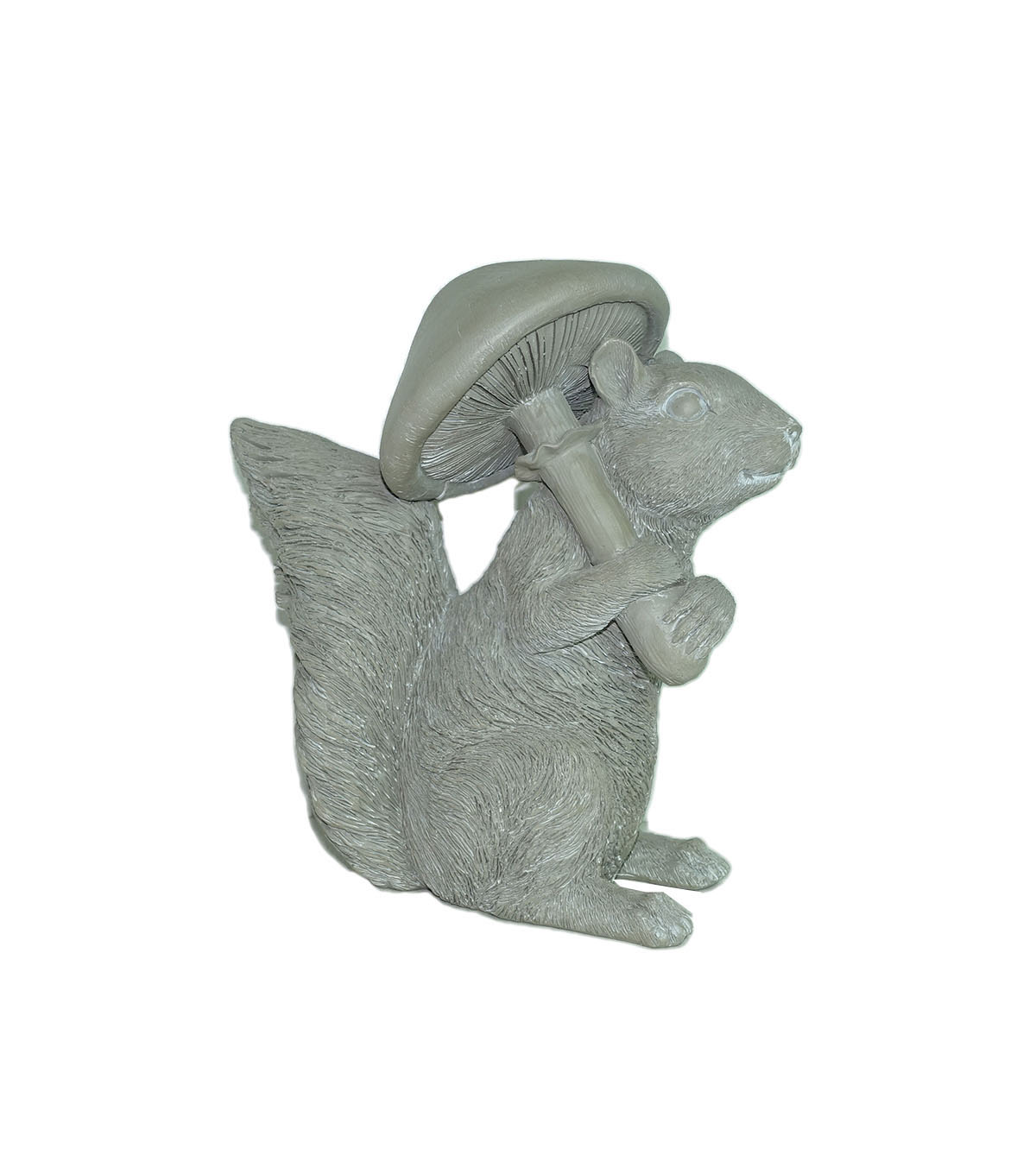 Hello Spring Gardening Resin Squirrel with Mushroom