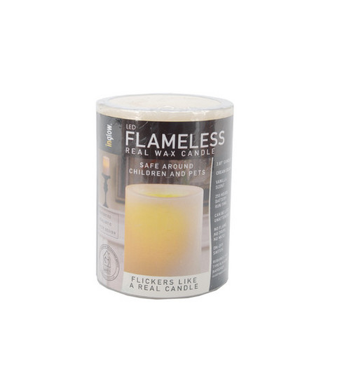 Hudson 43 Candle & Light Collection 4\u0022LED Flameless Real Wax Candles-Cream