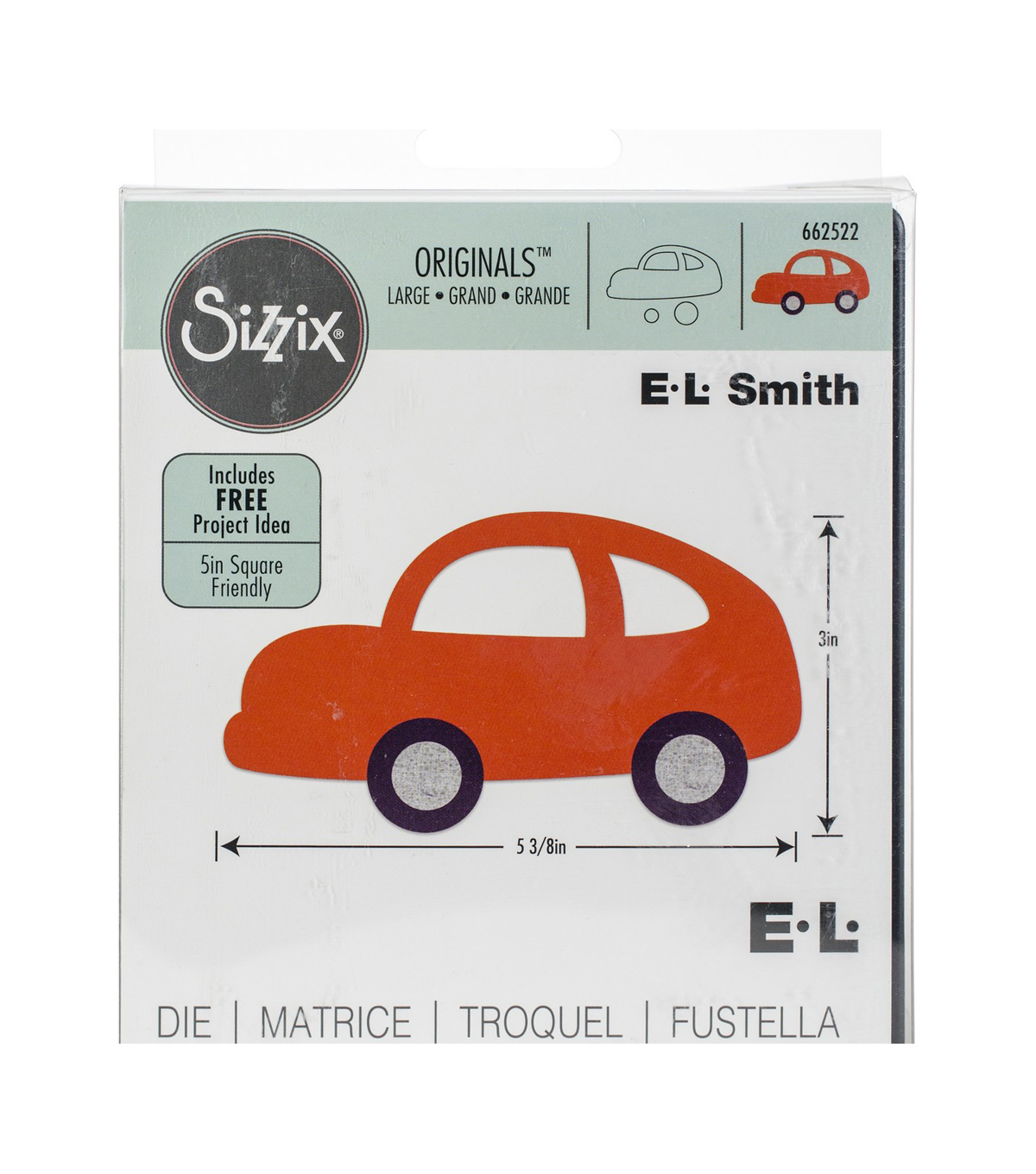 Sizzix Originals Large Die-Car #3 By E.L. Smith