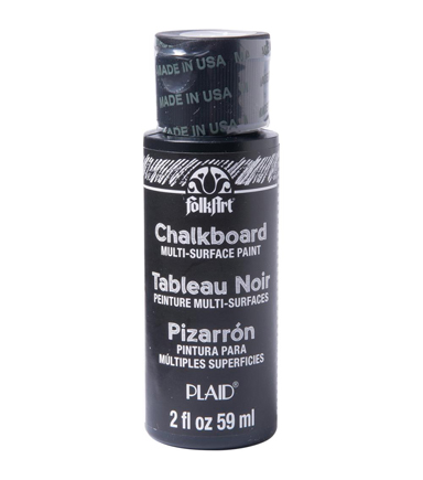FolkArt Chalkboard Multi-Surface 2 fl. oz. Paint-Black