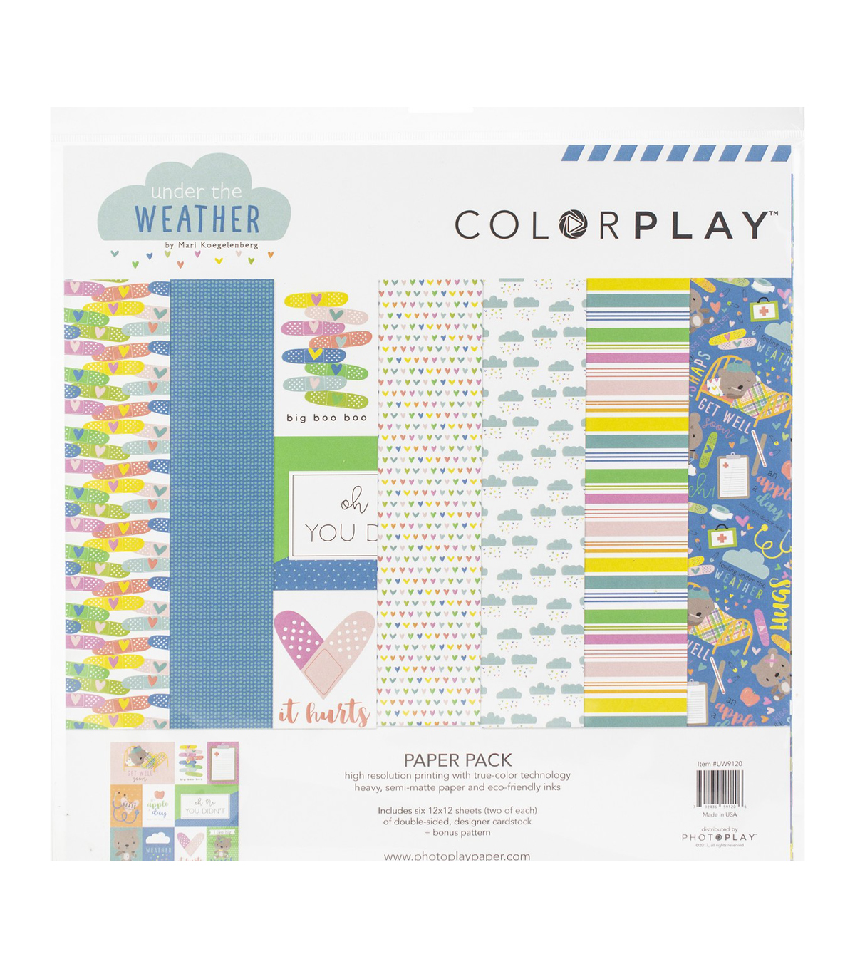 ColorPlay Collection Pack 12\u0022X12\u0022-Under The Weather, 6 Designs/2 Each