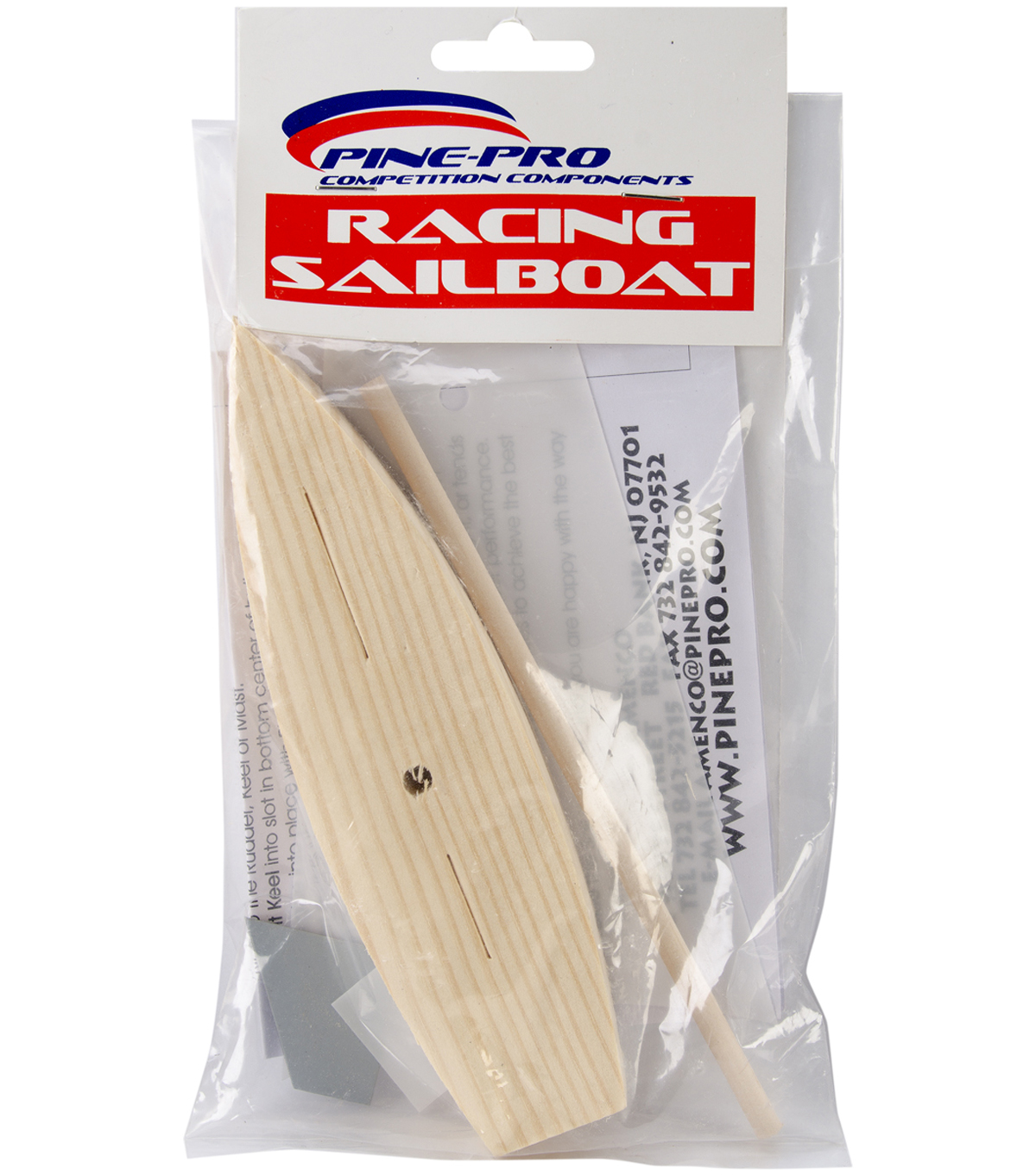 Pine Car Derby Racing Sailboat