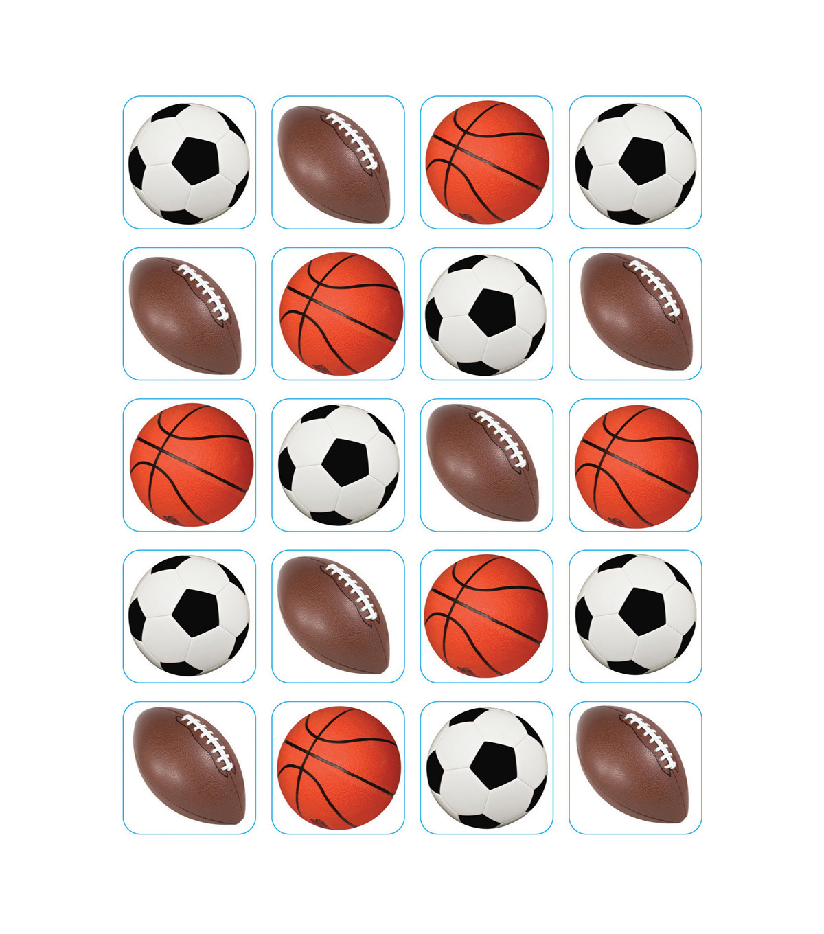 Mixed Sports Theme Stickers 12 Packs