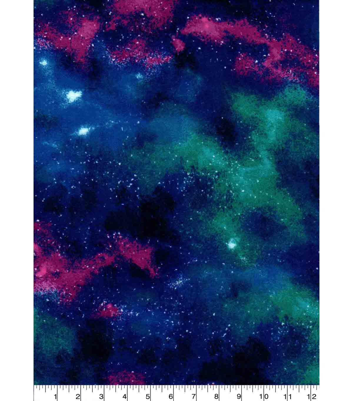 Nursery Flannel Fabric -Outer Space Galaxy