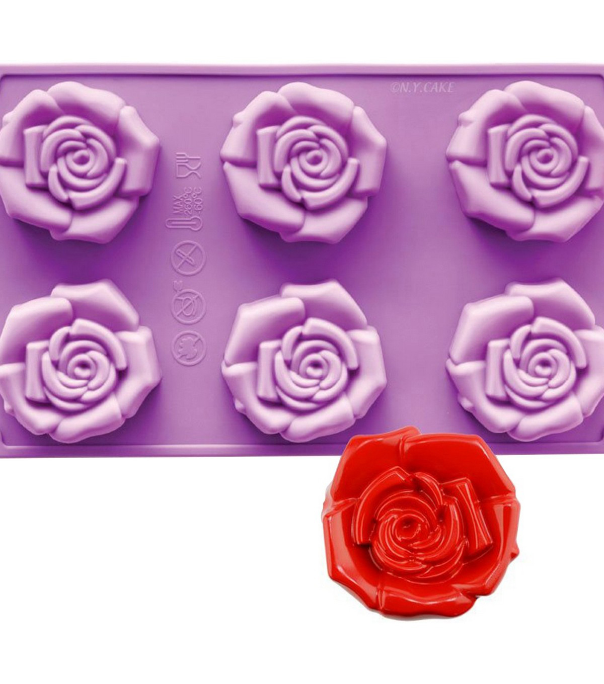 NY Cake Novelty Baking Mold-Open Rose