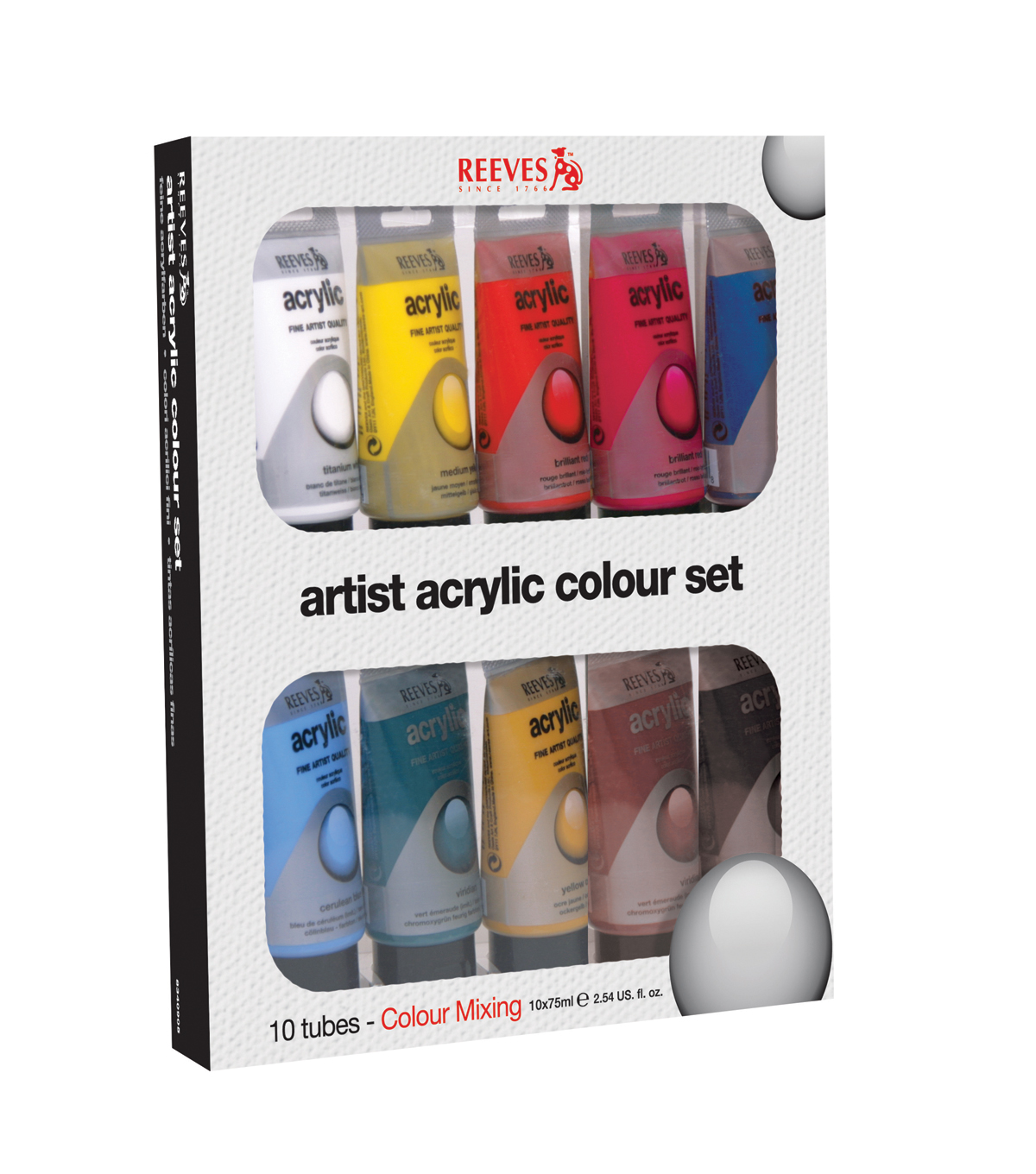 Reeves Acrylic Paint Set 10 ct