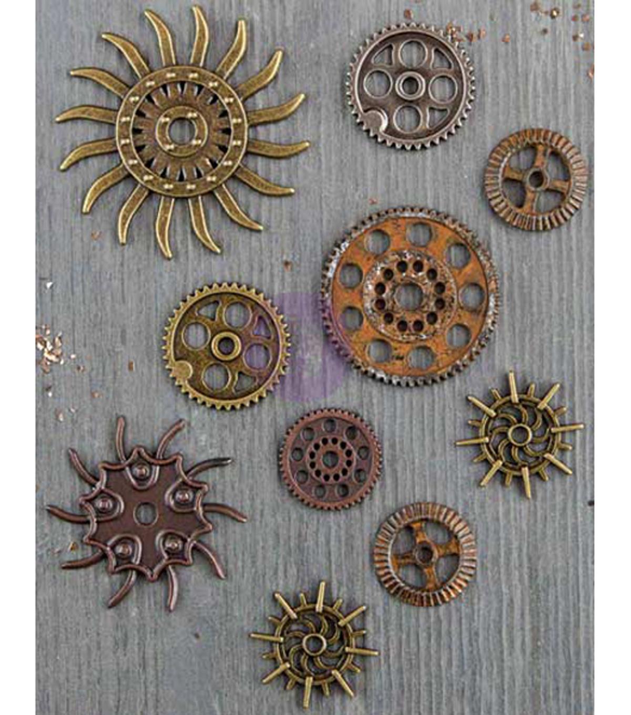 prima marketing steampunk gears 10 pc metal embellishments joann