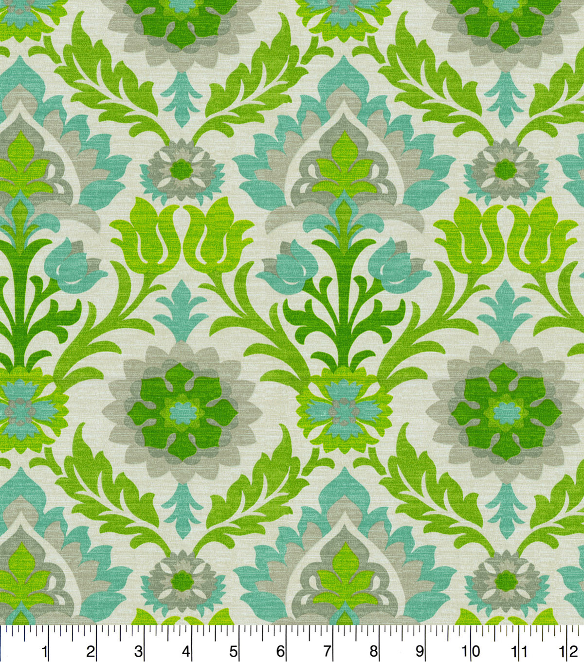 Waverly Sun N Shade Fabric 9\u0022x9\u0022 Swatch-Santa Maria Mint Julep
