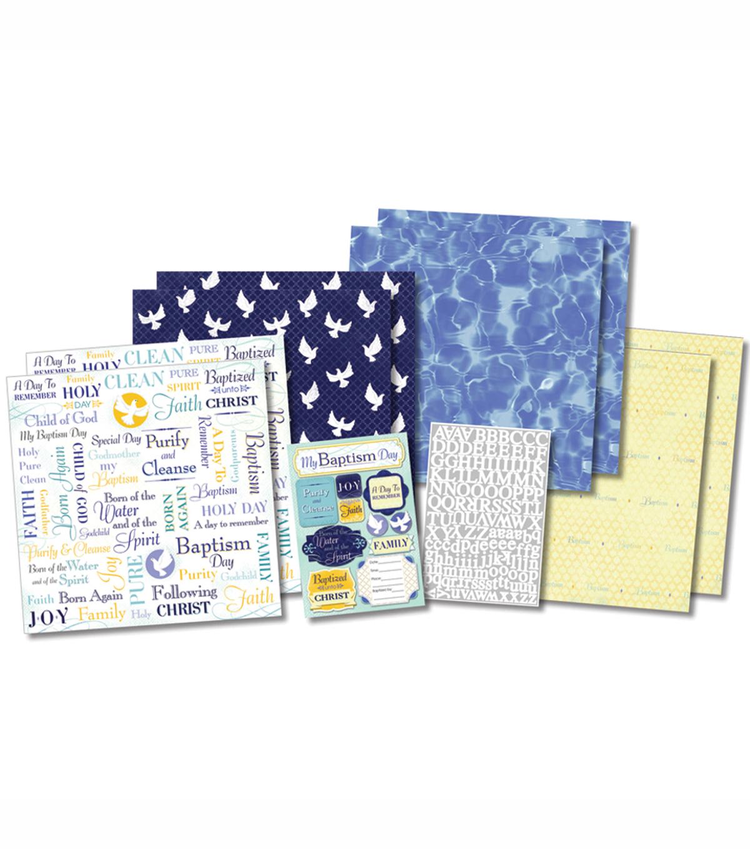 Baptism Karen Foster Design Themed Paper and Stickers Scrapbook Kit