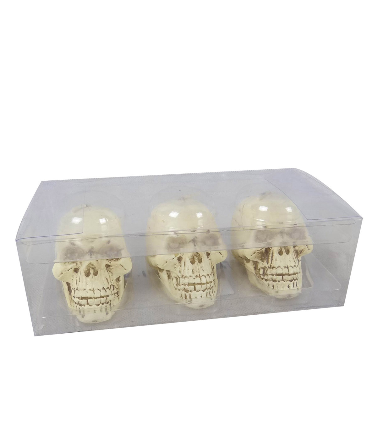 Maker\u0027s Halloween 3 pk Novelty Skull Figural Candles
