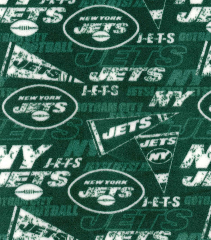 New York Jets Fleece Fabric Retro Joann