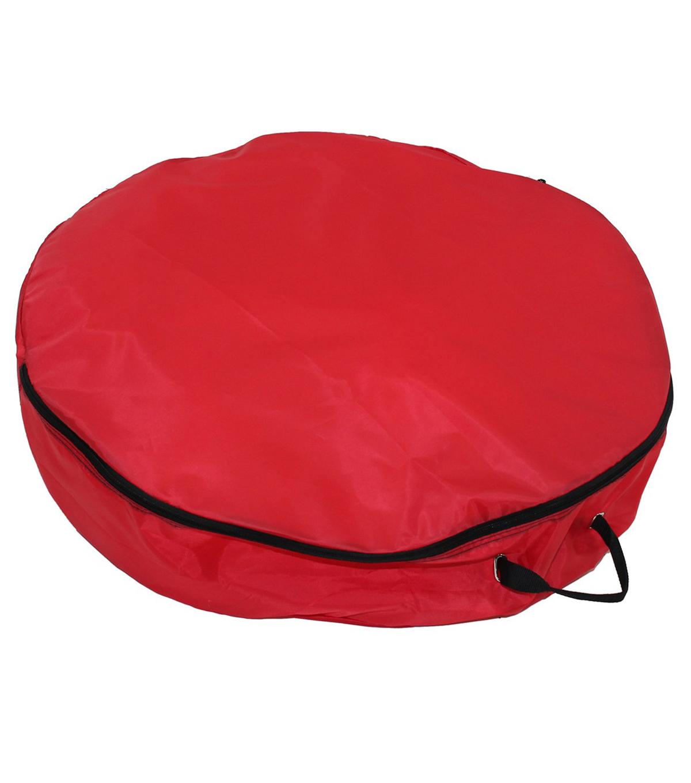 Bon Lightweight 30\u0022 Wreath Storage Bag Red