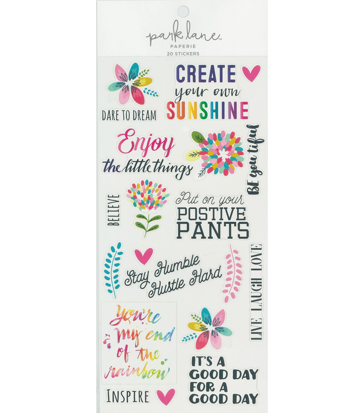Park Lane Positive Sticker Sheet 20/Pkg
