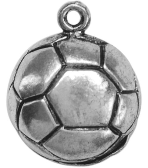 Metal Charms-Soccer 12/pk