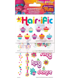 Trolls Decorative Stickers & Embellishments