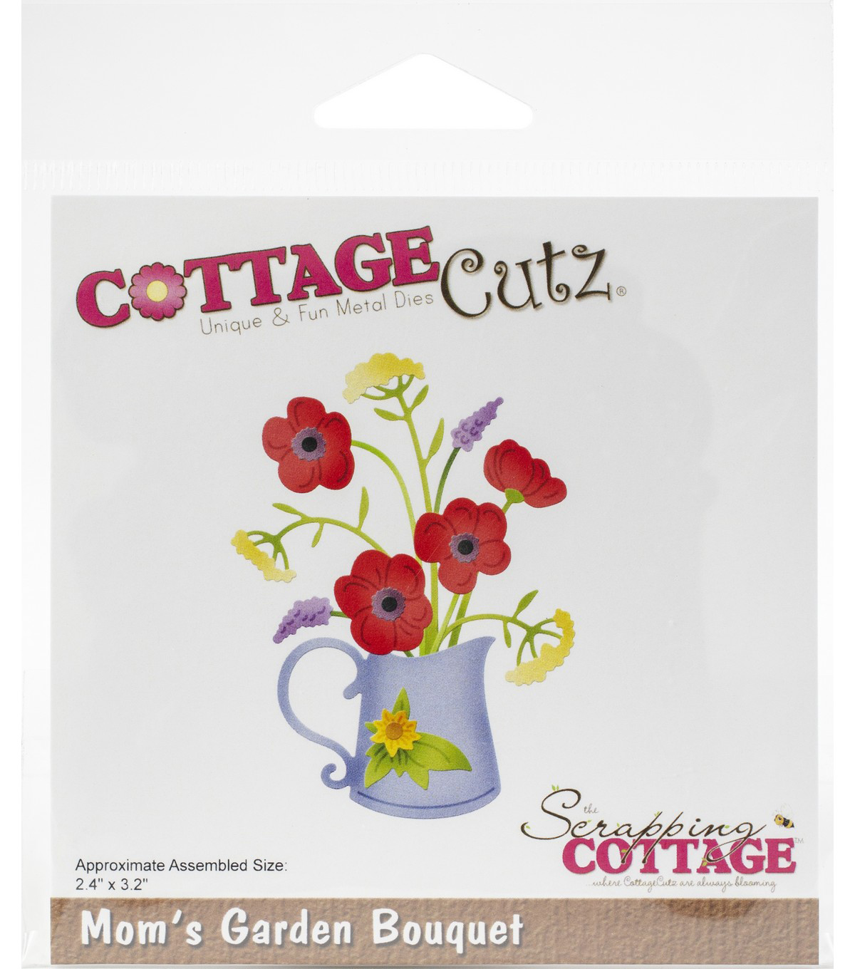 CottageCutz Die-Mom\u0027s Garden Bouquet 2.4\u0022X3.2\u0022