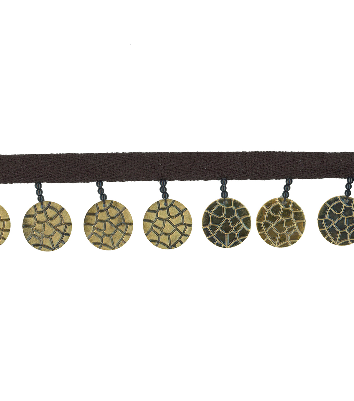 Simplicity Trims-1 1/2\u0022 Hammer Coin Antique Gold