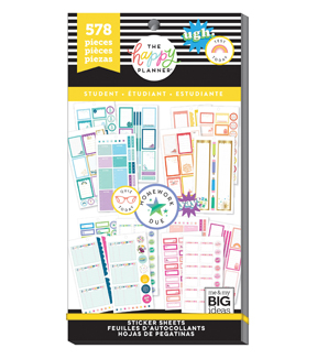 The Happy Planner Sticker Value Pack-Functional Student
