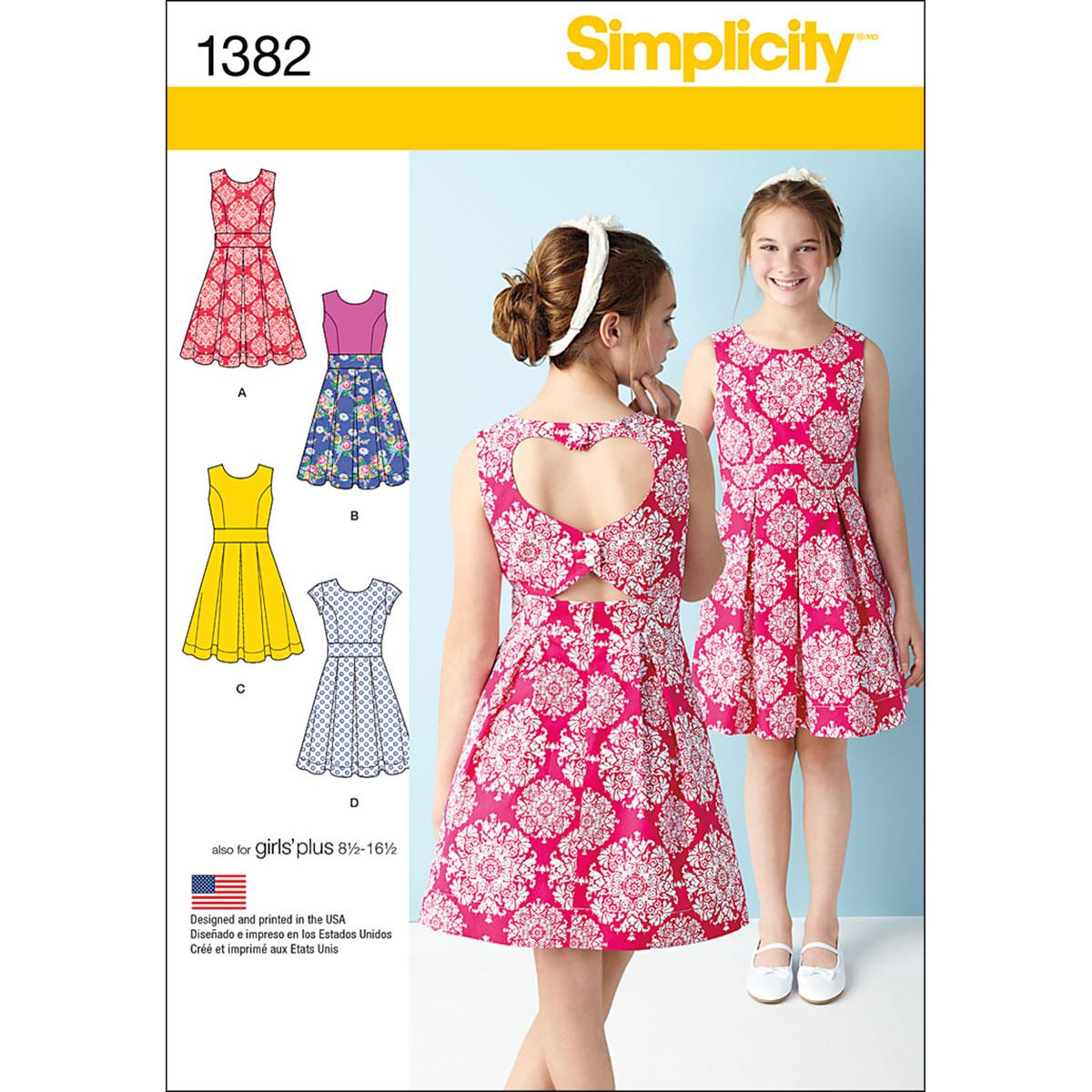 b9033dad9758 Simplicity 8-10-12-14-Girl Dresses