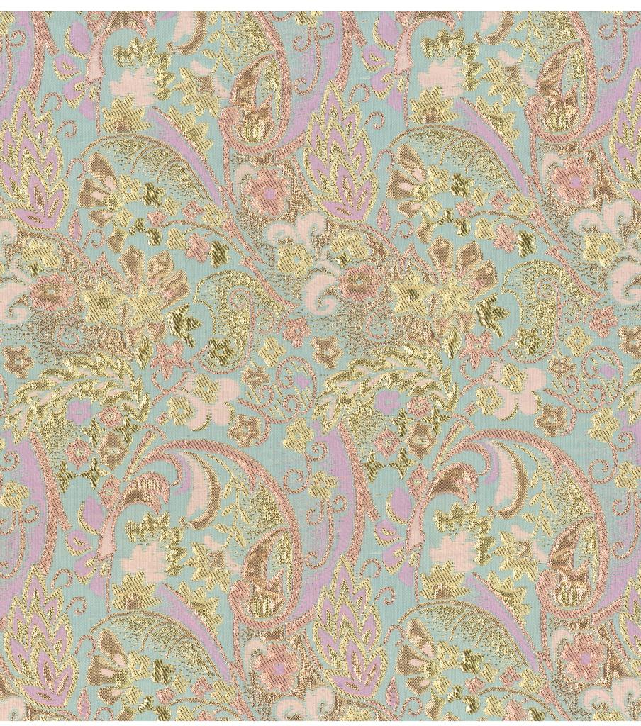 Jo Ann Fabrics And Crafts Mall: JOANN Stores Brocade Fabric Tapestry Gold/Aqua