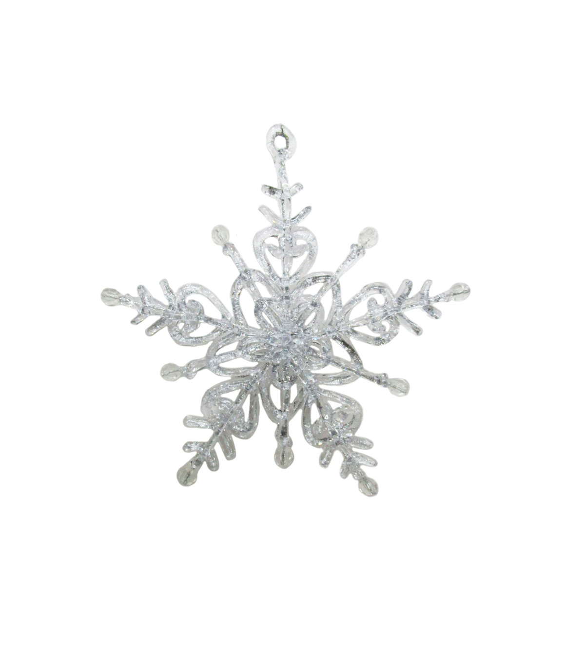 Maker\u0027s Holiday Christmas Arctic Frost Shimmering Snowflake Ornament