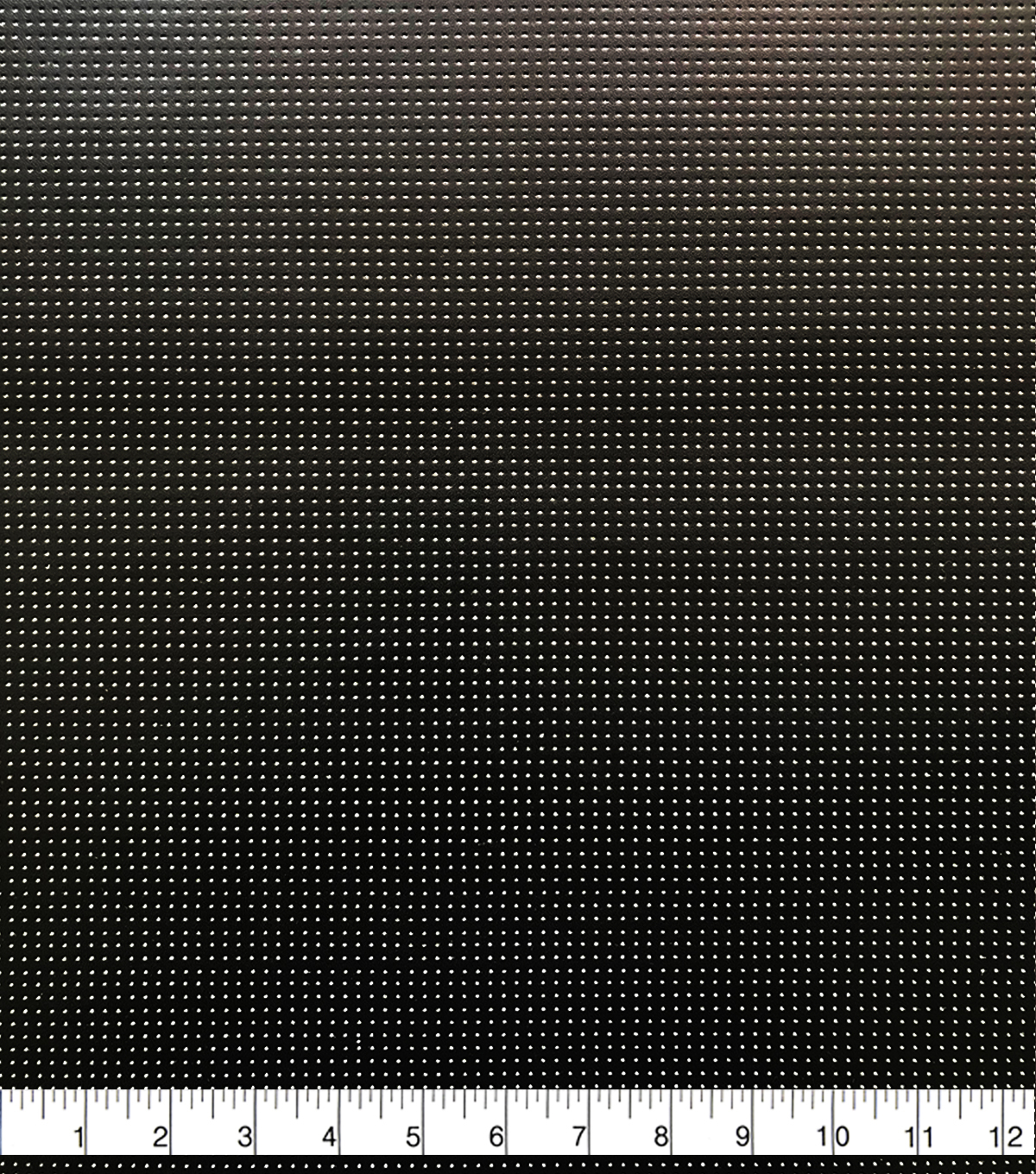Perforated Faux Leather Fabric-Black