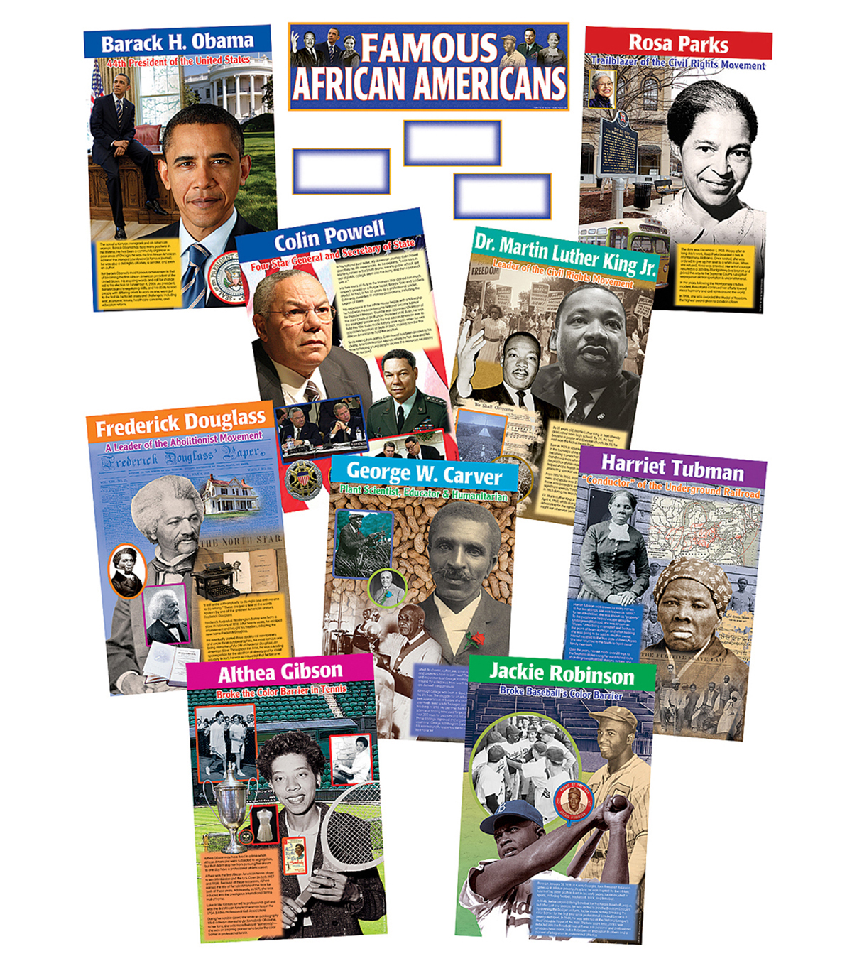 Teacher Created Resources Famous African Americans Bulletin Board Set