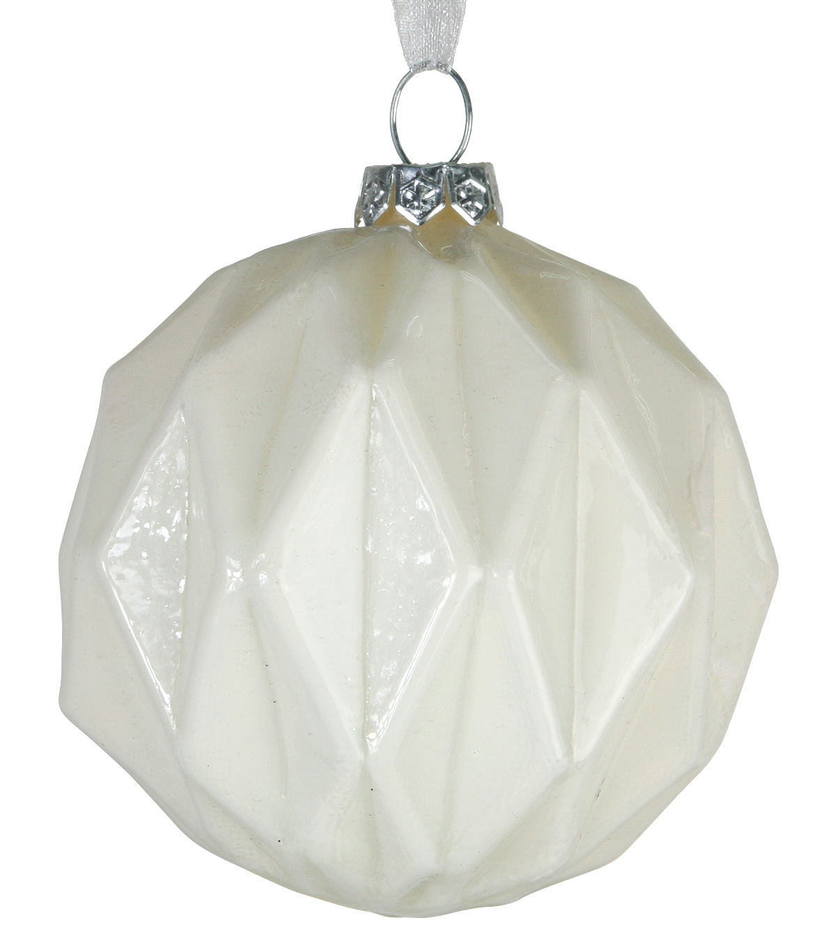 Maker\u0027s Holiday Christmas Rose Gold Diamond Texture Bulb Ornament