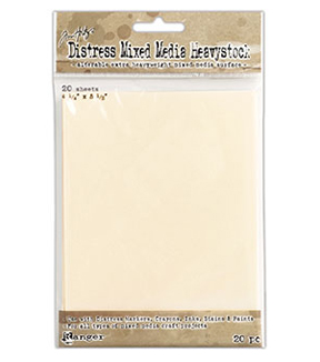 Tim Holtz Distress Pack of 20 Mixed Media Heavystock Tags