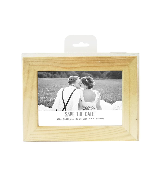 Save The Date Wood 4 Pk Frames 35x5 Joann