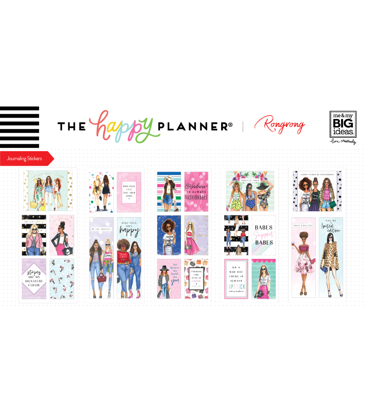The Happy Planner x Rongrong Journaling Flip Stickers