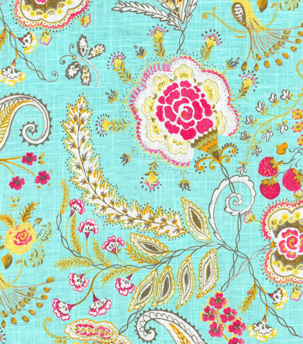 Dena Upholstery 8x8 Fabric Swatch-Hidden Charms/Blossom