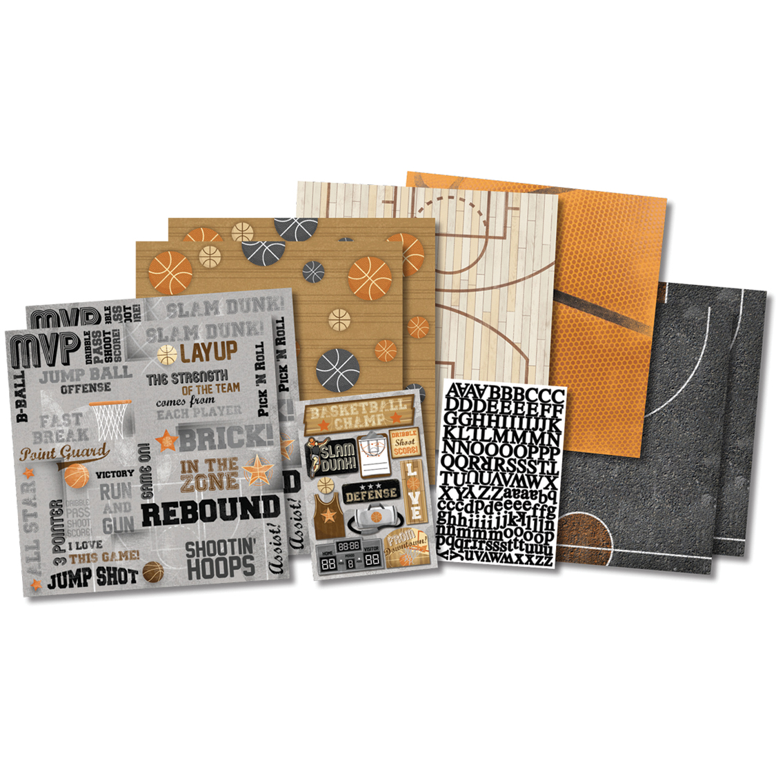 Karen Foster Basketball Champ Scrapbook Page Kit