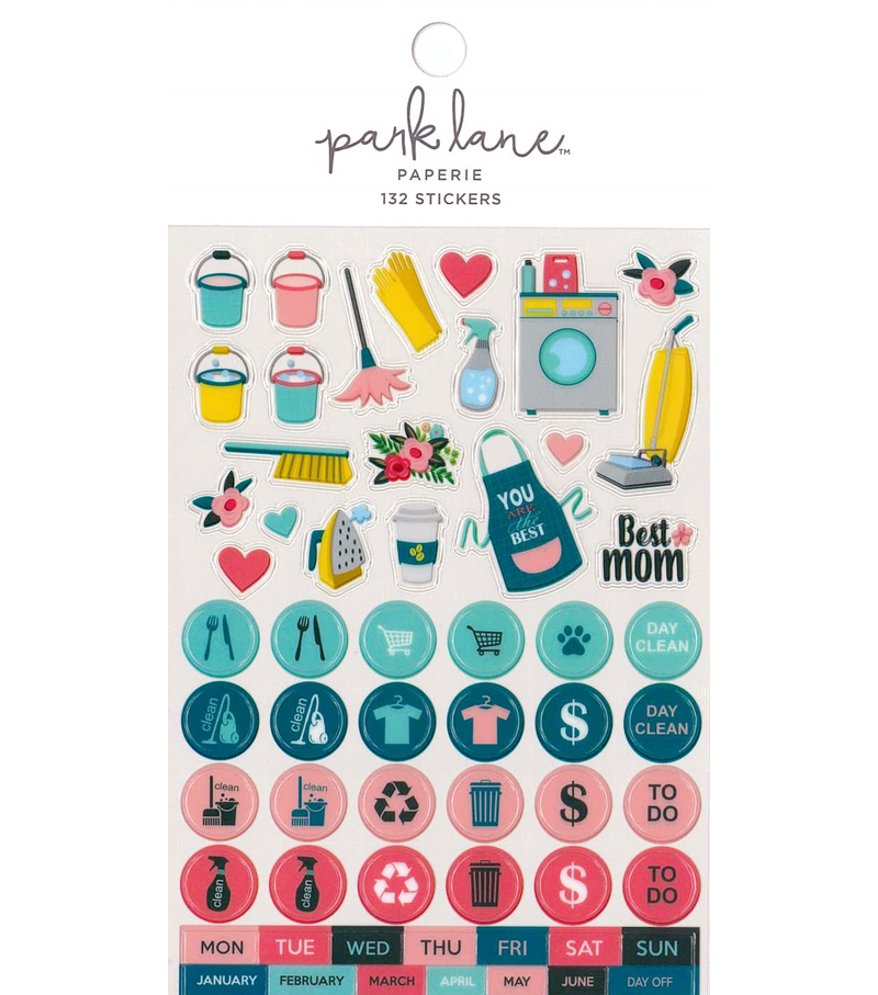 Park Lane Paperie 132 pk Stickers-Mom