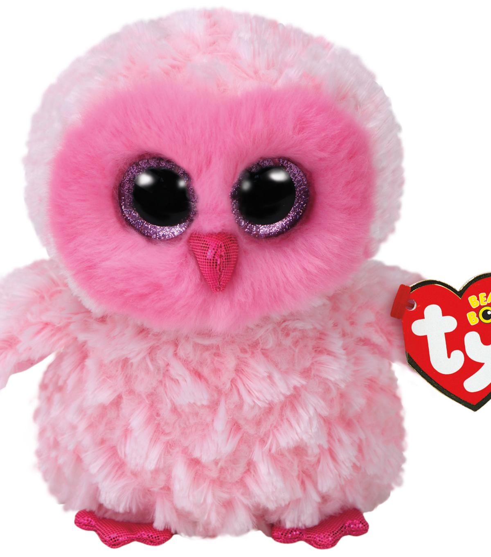 TY Beanie Boo Pink Owl-Twiggy  0b04451502c