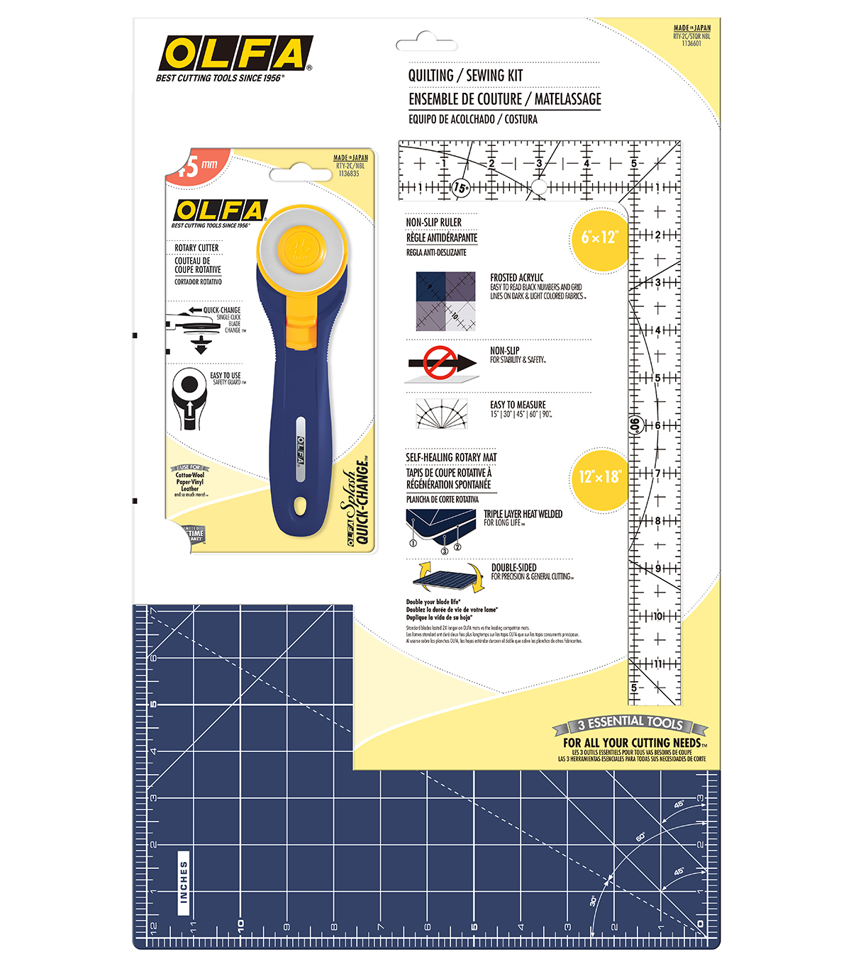 Olfa Essentials Kit with Ruler