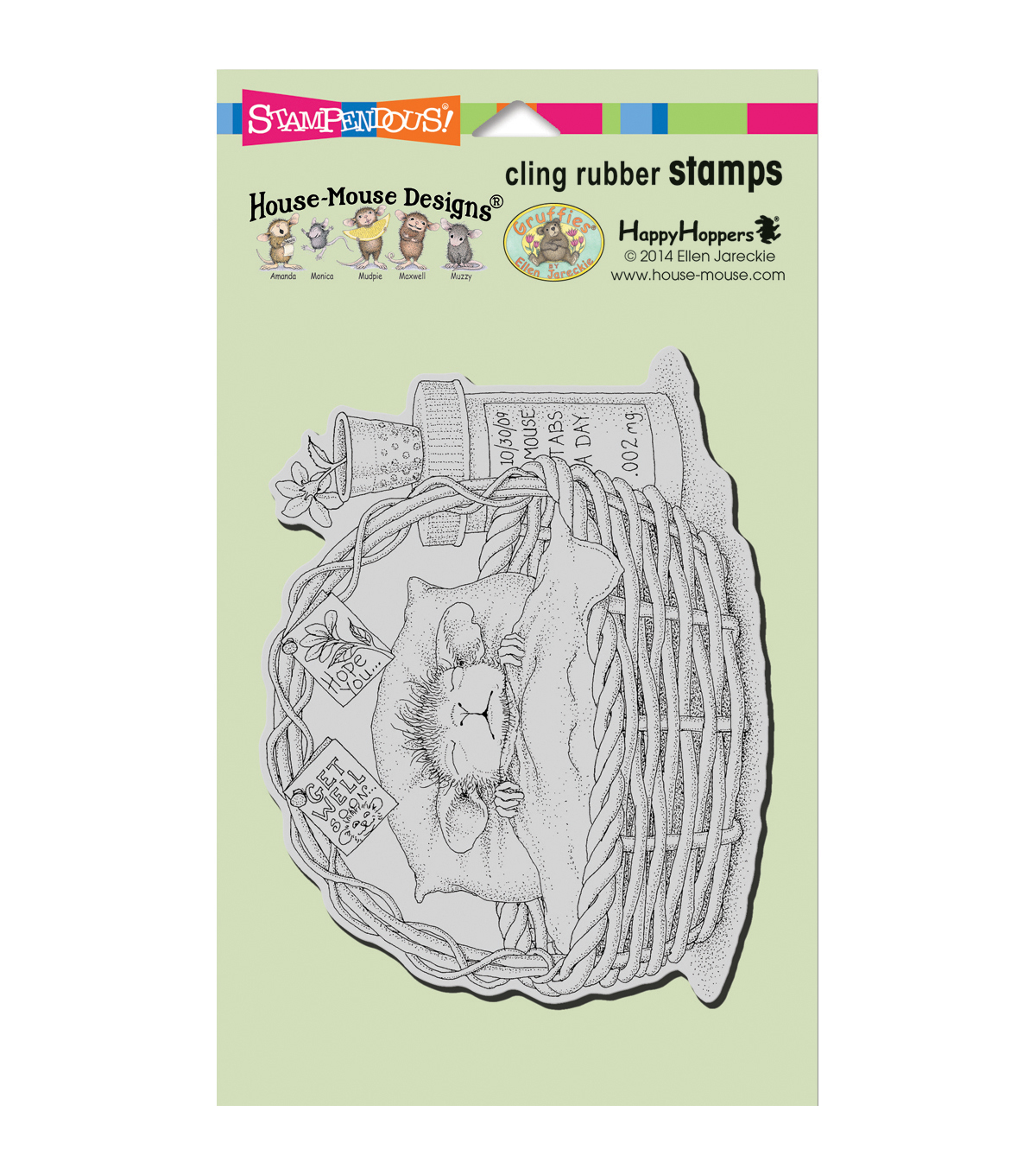 Stampendous House Mouse Cling Stamp-Quick Recovery