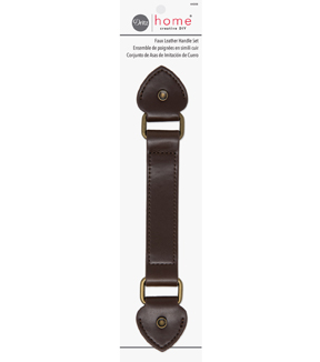 Dritz Home Faux Leather Handle Set-Brown