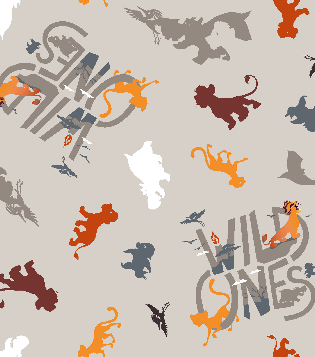Disney Lion Guard Cotton Fabric -Wild Ones