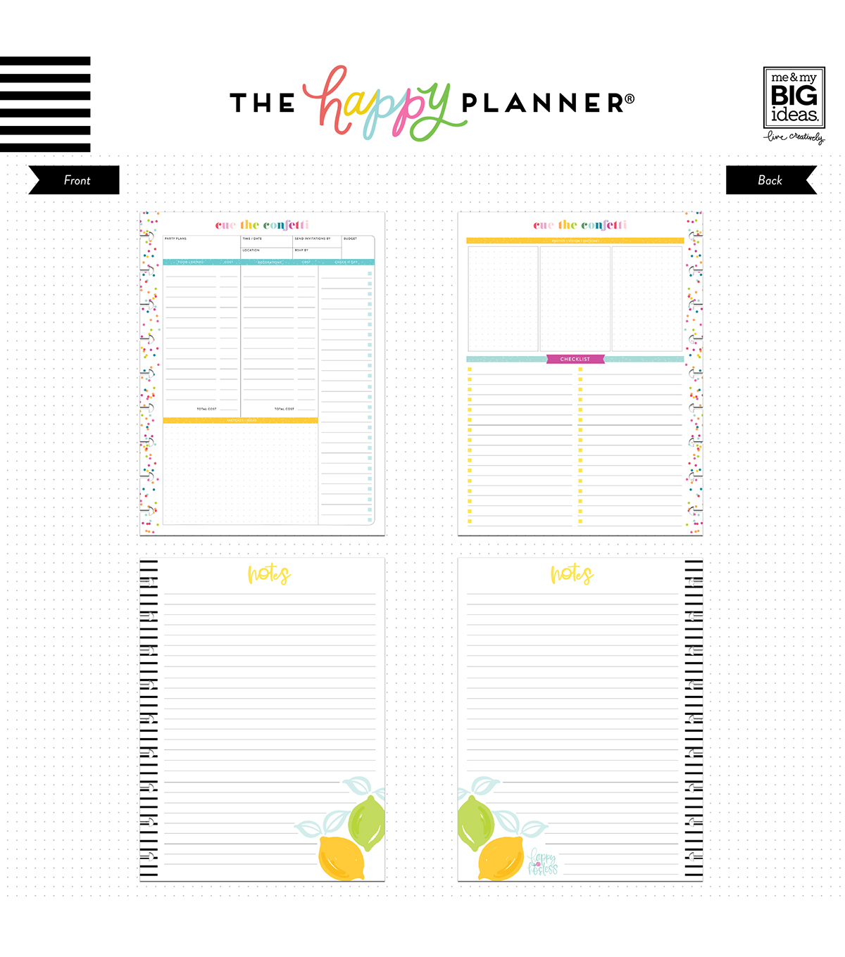 The Happy Planner Girl Classic Paper-Happy Hostess Party