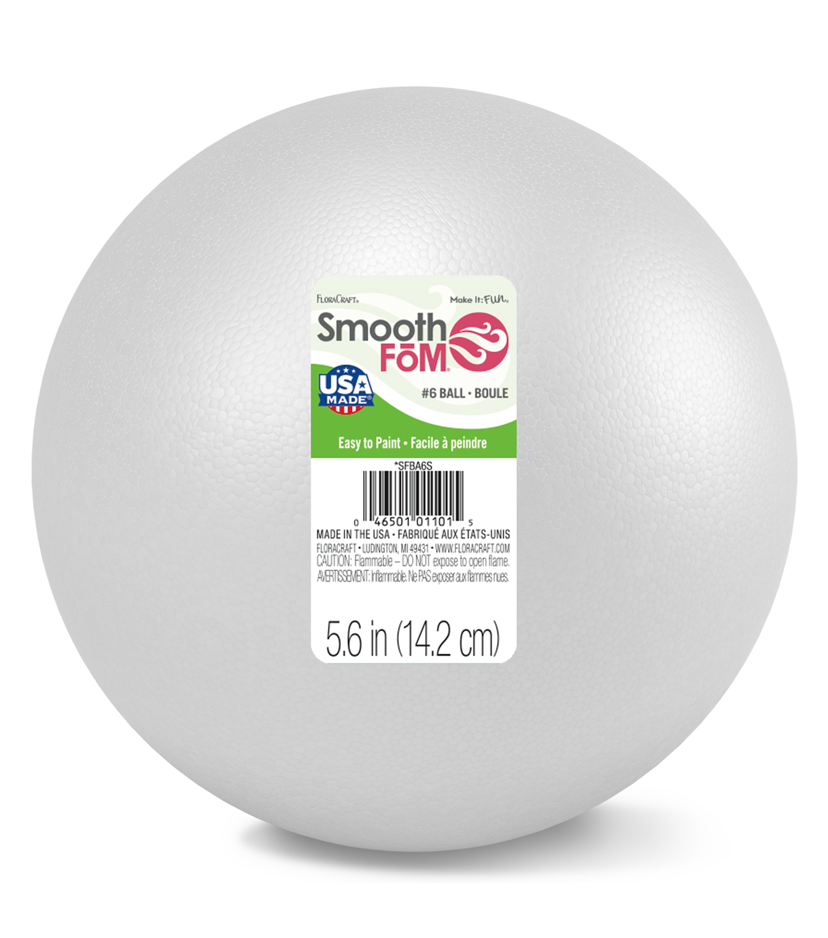 Smooth Foam Ball 6 Inch