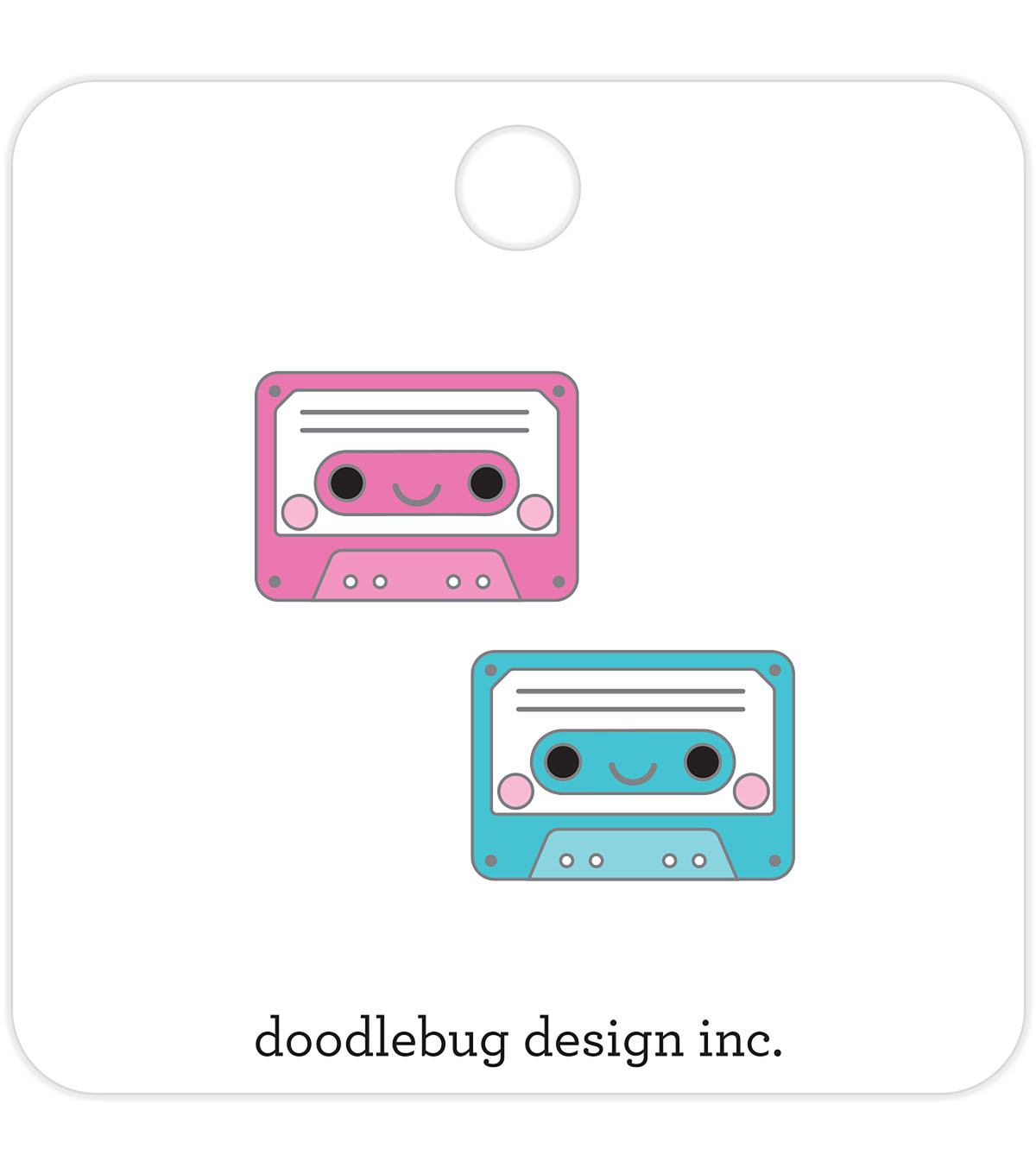 Doodlebug Design 2 pk Collectible Enamel Pins-Tiny Tapes