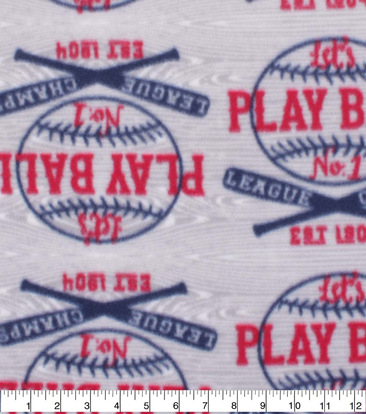 Blizzard Fleece Fabric-Play Ball