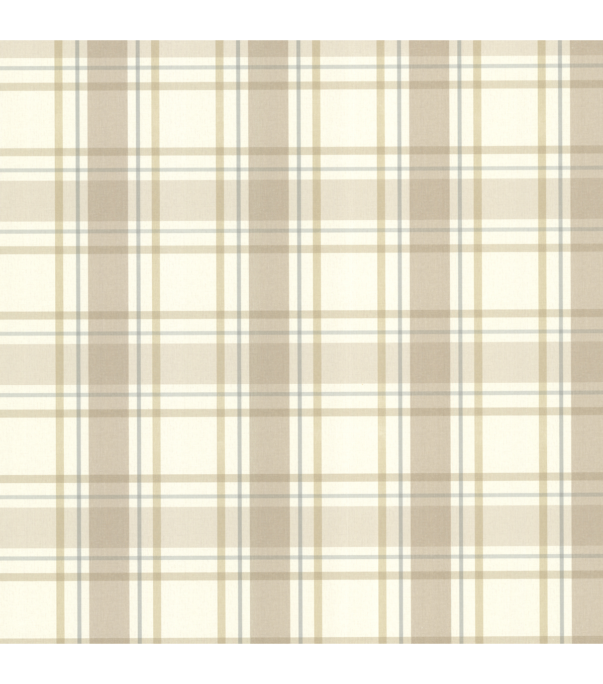 Grand Plaid Taupe Plaid Wallpaper Sample