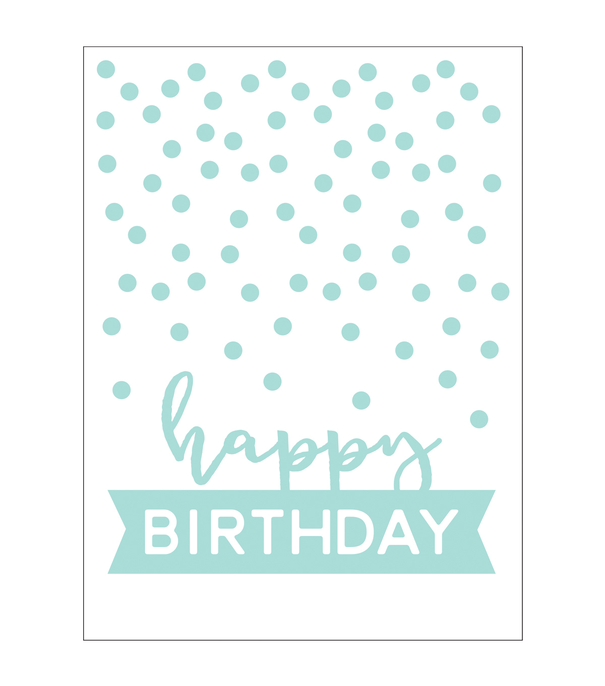 Park Lane A2 Embossing Folder-Happy Birthday & Dots