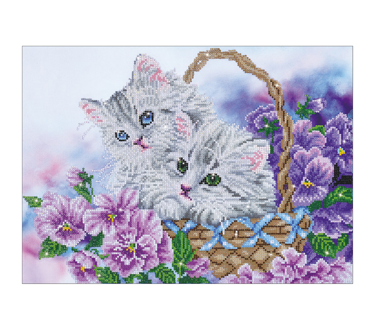 Diamond Dotz Diamond Embroidery Facet Art Kit 23.5\u0027\u0027X18\u0027\u0027-Kitty Basket