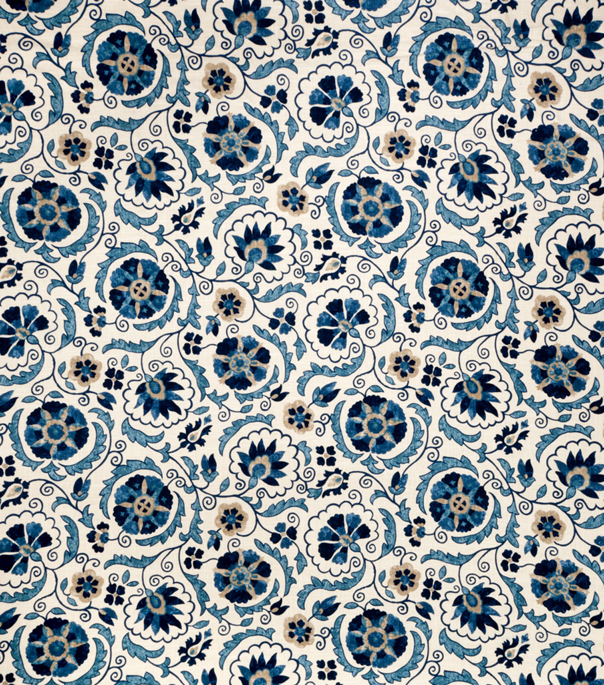 Jaclyn Smith Upholstery Fabric 54\u0022-Clarinet/Cobalt
